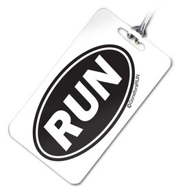 Run Oval Personalized Sport Bag/Luggage Tag
