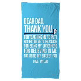 Golf Beach Towel Dear Dad