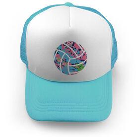 Volleyball Trucker Hat - Floral