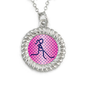 Braided Circle Necklace Hockey Girl Graphic