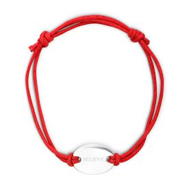 Sterling Silver Cord Bracelet Believe