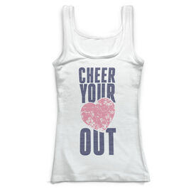 Cheerleading Vintage Fitted Tank Top - Cheer Your Heart Out