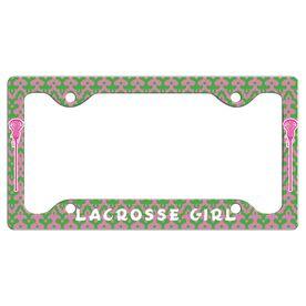 LACROSSE GIRL License Plate Holder