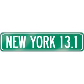 "Running Aluminum Room Sign New York 13.1 (4""x18"")"