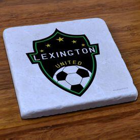 Soccer Stone Coaster Custom Soccer Logo