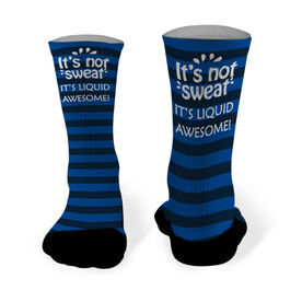 Running Printed Mid Calf Socks It's Not Sweat