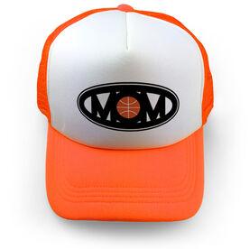 Basketball Trucker Hat - Mom Oval