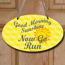 Good Morning Sunshine Decorative Oval Sign