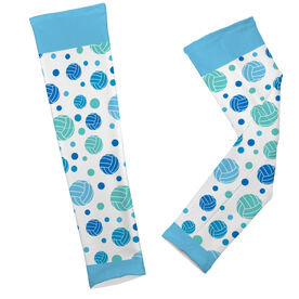 Volleyball Printed Arm Sleeves Volleyball Dot Pattern
