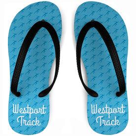 Track and Field Flip Flops Female Sprinter Pattern