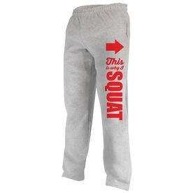 Cross Training Fleece Sweatpants This Is Why I Squat