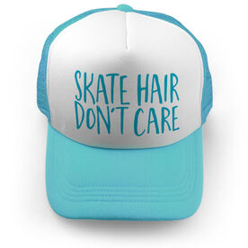 Figure Skating Trucker Hat - Skate Hair Don't Care