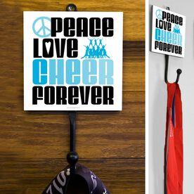 Cheerleading Hook Peace Love Cheer Forever