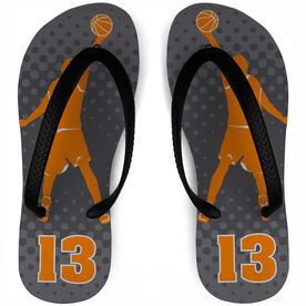 Basketball Flip Flops Player with Number