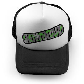 Snowboarding Trucker Hat - Top