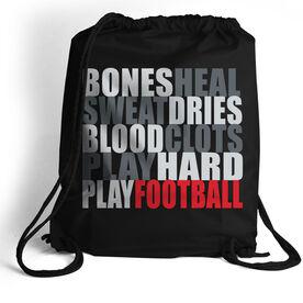 Football Sport Pack Cinch Sack Bones Saying