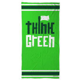 Golf Beach Towel Think Green