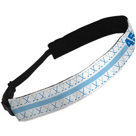 Julibands No-Slip Headbands Personalized Crossed Hockey Sticks Pattern with Number