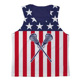 Girls Lacrosse Racerback Pinnie USA Lax Girl - Navy Interior