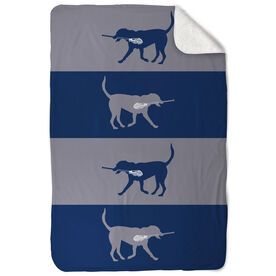 Guys Lacrosse Sherpa Fleece Blanket Max The Lax Dog