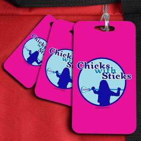 Field Hockey Bag/Luggage Tag Chicks With Sticks