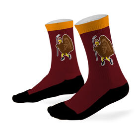 Hockey Printed Mid Calf Socks Hockey Turkey