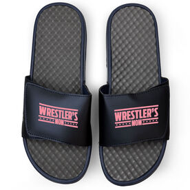 Wrestling Navy Slide Sandals - Wrestlers Mom