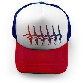 Gymnastics Trucker Hat Silhouette