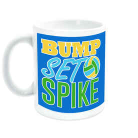 Volleyball Ceramic Mug Bump Set Spike