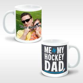 Hockey Ceramic Mug Me & My Dad Custom Photo