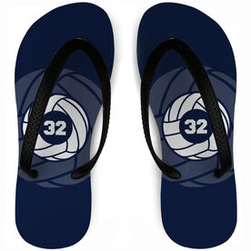Volleyball Flip Flops Personalized Number