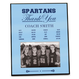 Girls Lacrosse Photo Frame Thank You Coach Roster