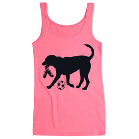 Soccer Women's Athletic Tank Top Spot The Soccer Dog
