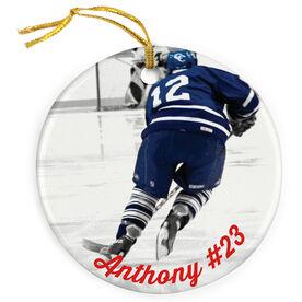 Hockey Porcelain Ornament Custom Photo