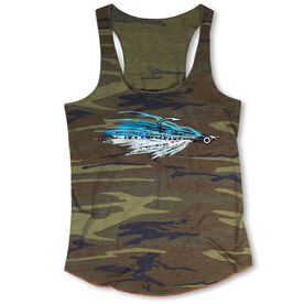 Fly Fishing Camouflage Racerback Tank Top - Clouser Fly
