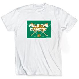 Baseball Tshirt Short Sleeve Rule The Diamond
