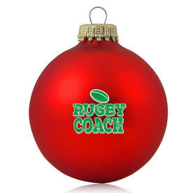 Rugby Glass Ornament Rugby Coach