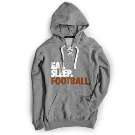 Football Sport Lace Sweatshirt Eat. Sleep. Football.