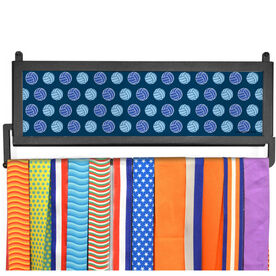 AthletesWALL Personalized Multi Color Volleyball Pattern Medal Display
