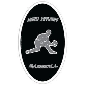 Baseball Oval Car Magnet Personalized Fielder