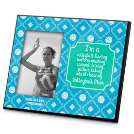 Volleyball Photo Frame Volleyball Mom Poem with Volleyball Pattern