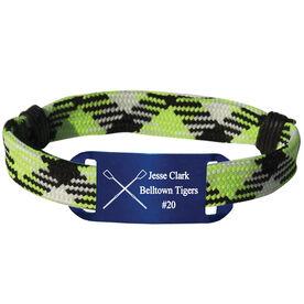 Personalized Crew Lace Bracelet Crossed Oars Adjustable Sport Lace Bracelet