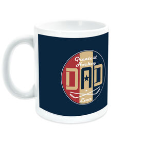 Hockey Ceramic Mug - Greatest Dad Stripes