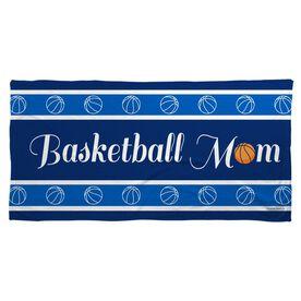 Basketball Beach Towel Mom Stripe