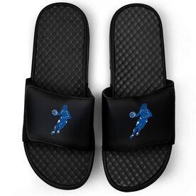 Basketball Black Slide Sandals - Girl Player