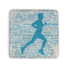 Running Stone Coaster Inspirational Words Male