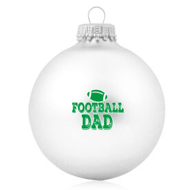 Football Glass Ornament Football Dad