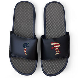 Wrestling Navy Slide Sandals - Grand Old Wrestling