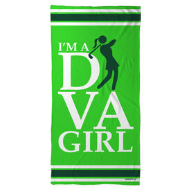Golf Beach Towel I'm A Diva Girl