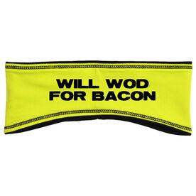 Cross Training Reversible Performance Headband Will WOD For Bacon